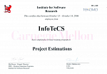 Сертификат от ТЕКАМА и Institute for Software Research по направлению Project Estimations