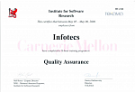 Сертификат от ТЕКАМА и Institute for Software Research по направлению Quality Assurance 2006